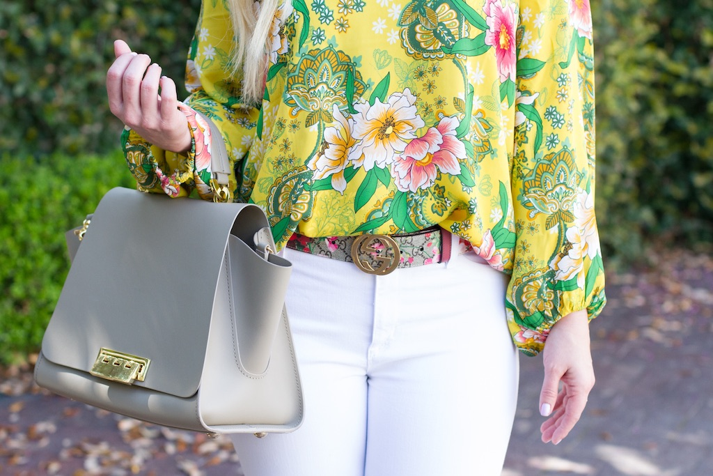 Yellow Floral Blouse | The Darling Petite Diva