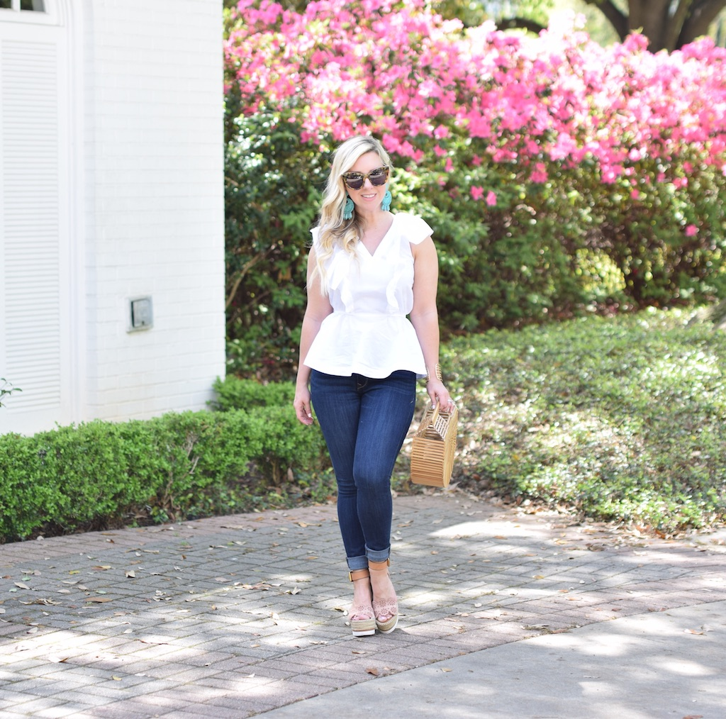 Ruffled White Top |The Darling Petite Diva | Spring Top