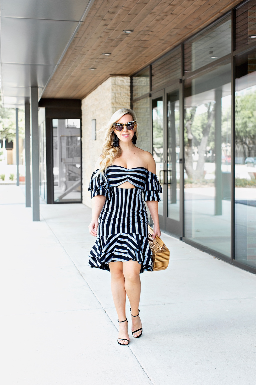 Off the Shoulder Ruffle Dress | The Darling Petite Diva