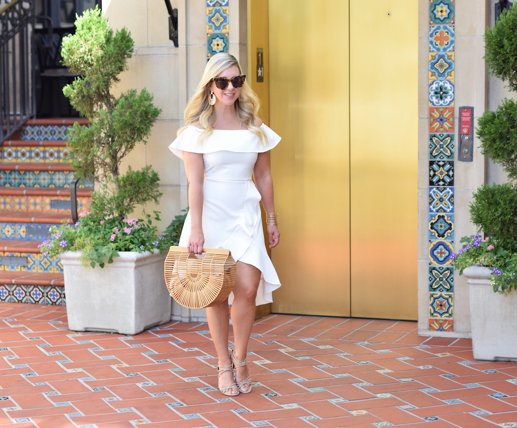 White Off The Shoulder Dress