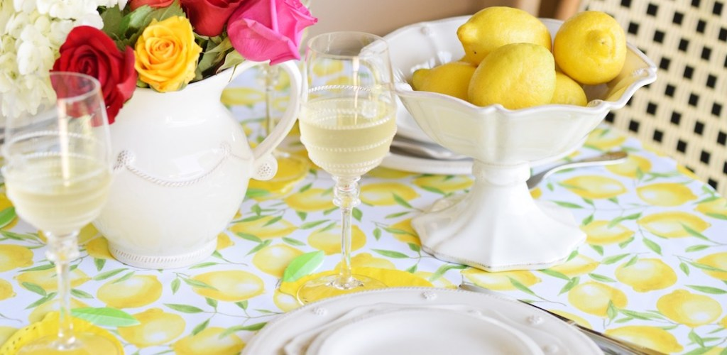 Lemon Inspired Tablescape