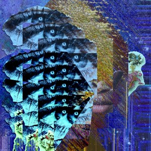 """Chorus"" Digital collage of cut and paste collage. Diva Muse Series 2015 #ThedaSandiford #selfportait"