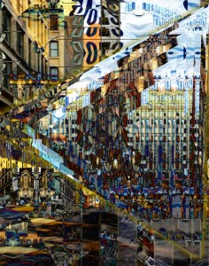 """New York, NY #3"" Digital photo collage. City Series 2015 #ThedaSandiford"