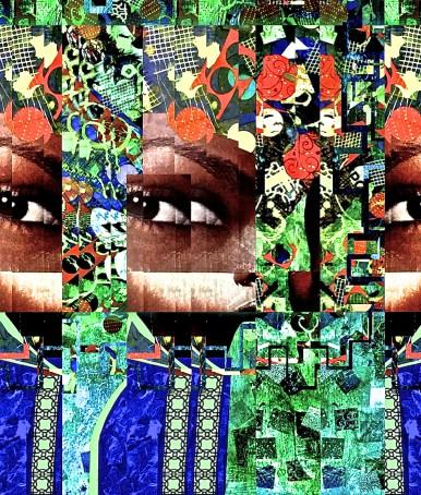 """Subspace Chatter"" digital collage Super Selfie: Joy Series"