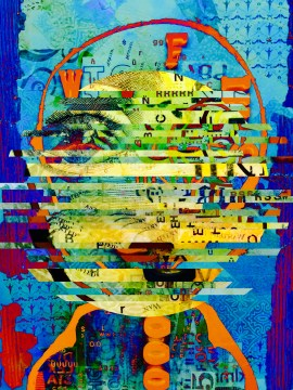 """Be Bop"" 20""x16"" Aluminum Print Subject Matter: Jazz 2016"