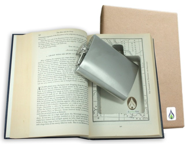 SneakyBooks Recycled Hollow Book Hidden Flask Diversion Safe -- alcohol gifts from @thedashanddine