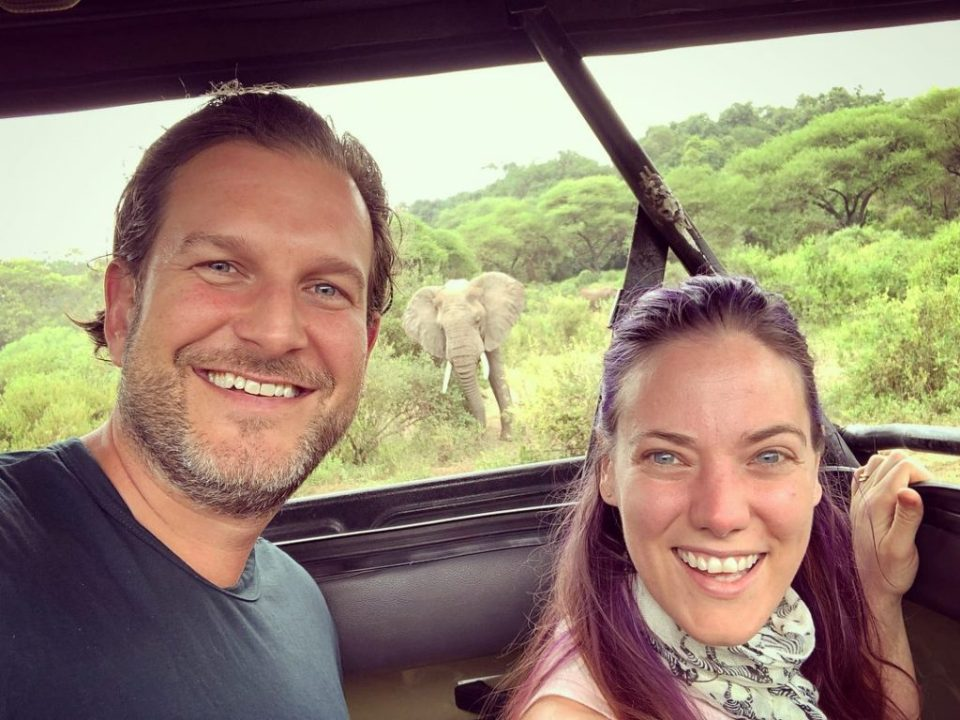 Our first elephant sighting -- Our top 10 favorite safari honeymoon moments