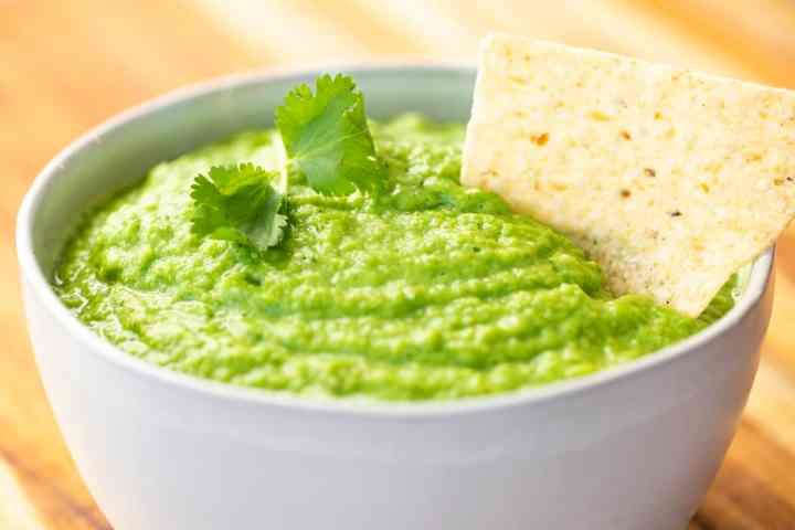 bowl of easy homemade avocado salsa