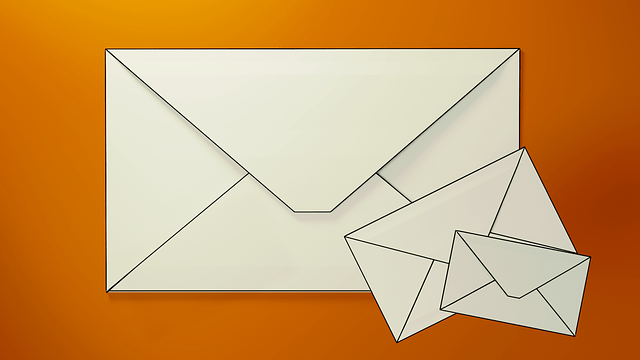 three envelopes of different sizes