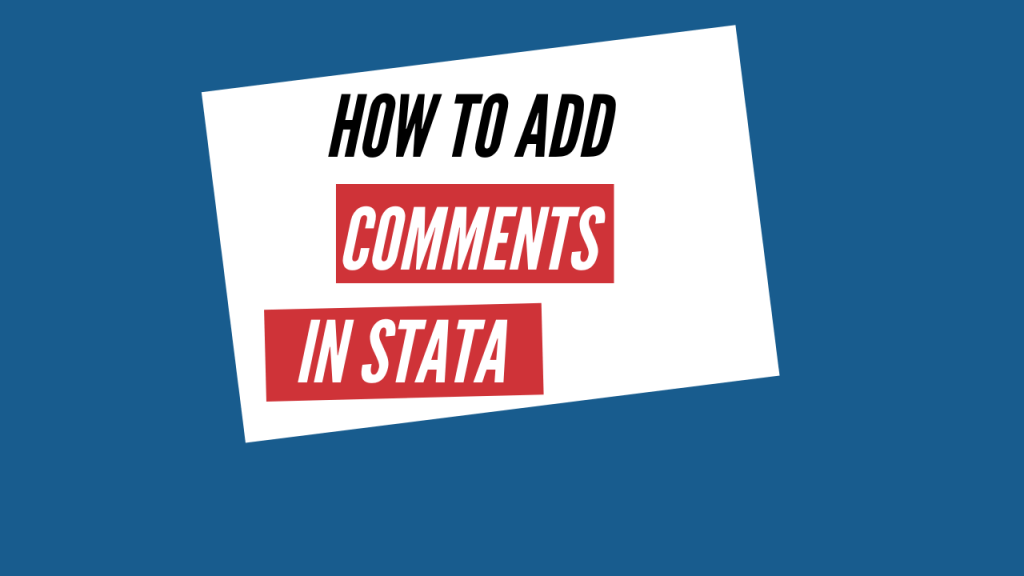 how to add comments in stata