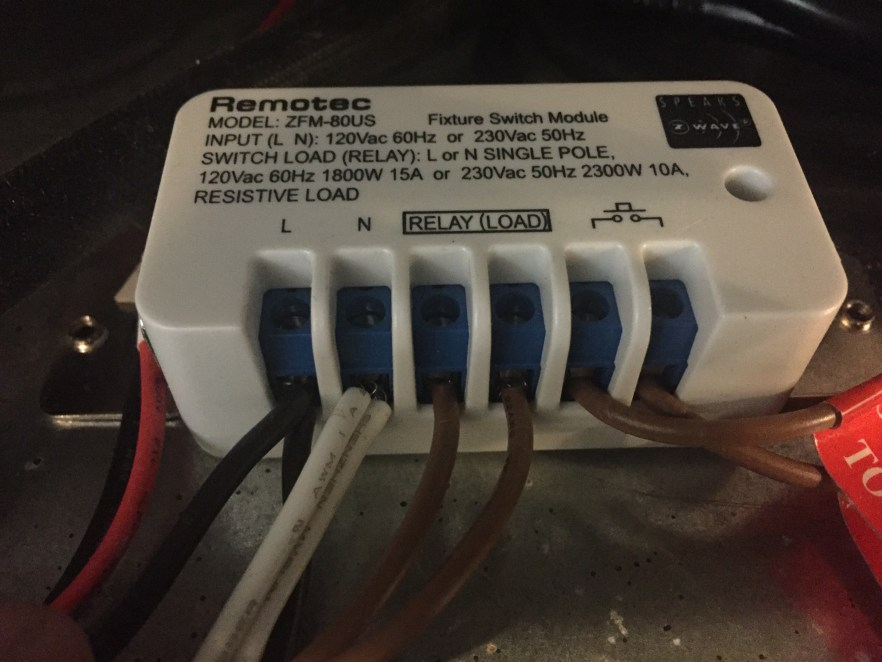 Remotec ZWave Relay Connected