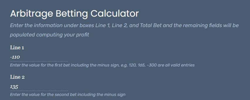 Sports betting arbitrage calculator sports sztankay betting