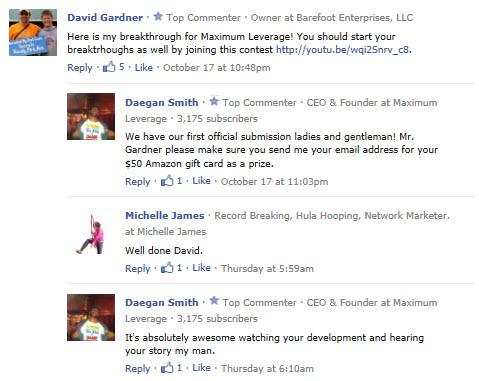Daegan Smith Comments on David Gardner's Maximum Leverage Breakthough Video