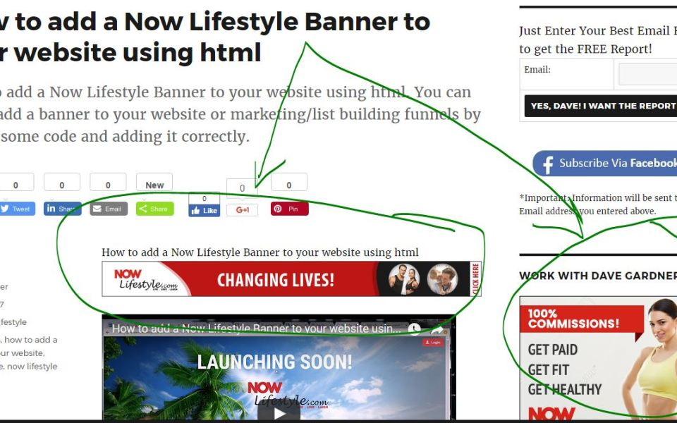 how to add banner to wix website