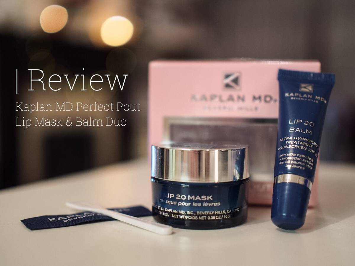 Kaplan MD Perfect Pout Lip Mask & Balm Duo | review