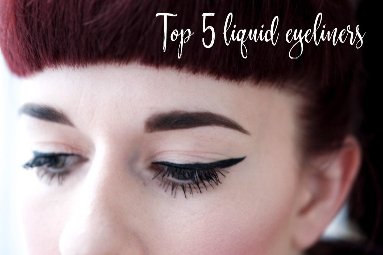 Top Five Easy Liquid Eyeliners