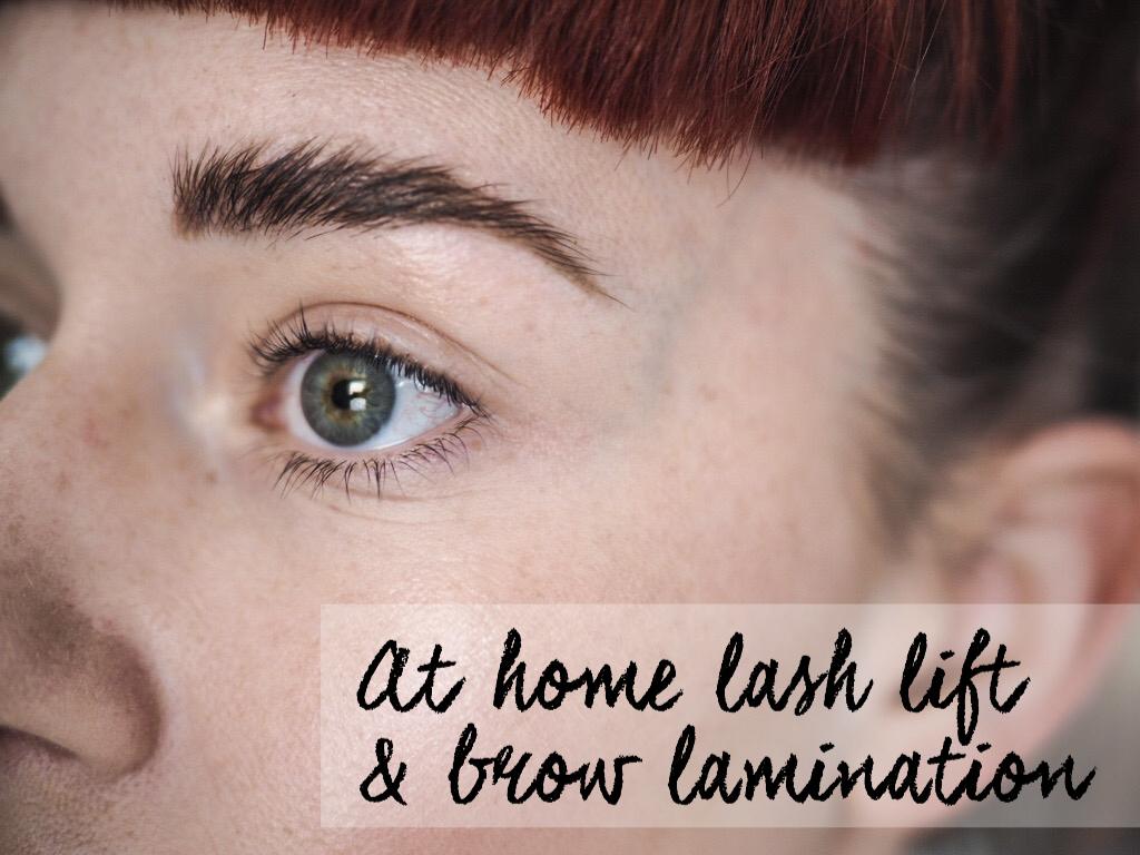 At home lash lift and brow lamination