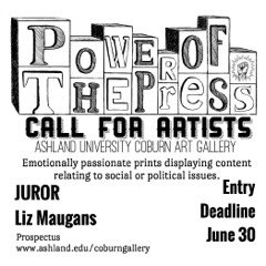 Power of the Press Call for Artists 2015