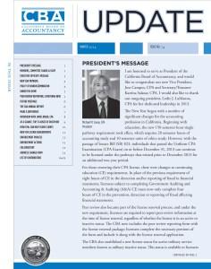 UPDATE 74 Winter 2014 - California Board of Accountancy