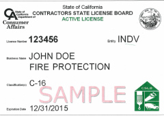 CSLB pocket license