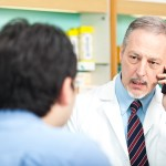 Pharmacist on the phone with patients physician