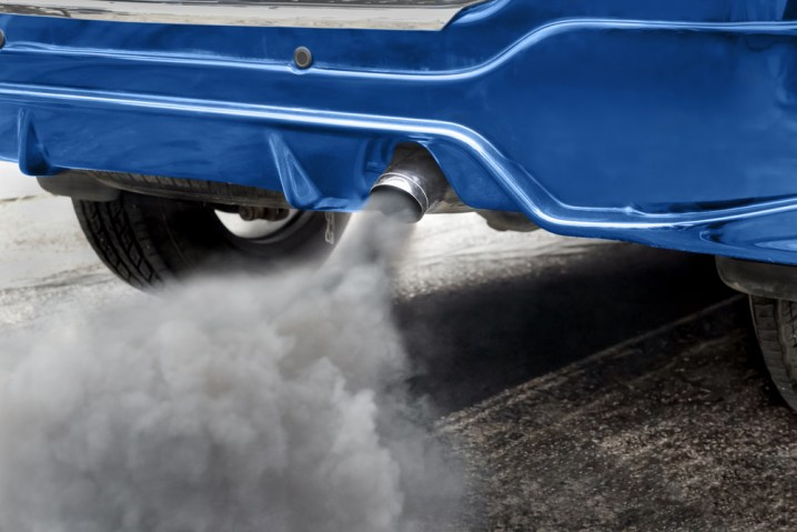 Car producing pollution exhaust