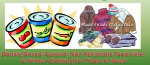 Donate Non Perishables, Clothing Today