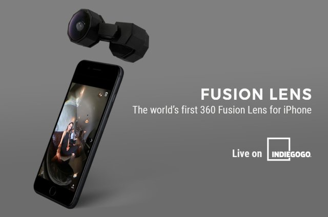 Capture 360 with iPhone – Fusion Lens is available on Indiegogo