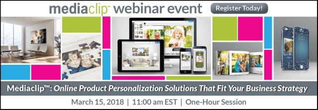 Still time to register for tomorrow's Mediaclip personalization webinar
