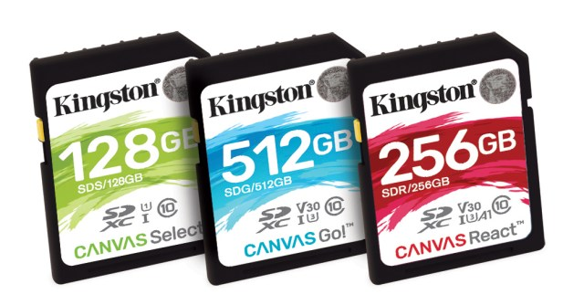 Kingston Digital announces new 'Canvas' series of flash cards