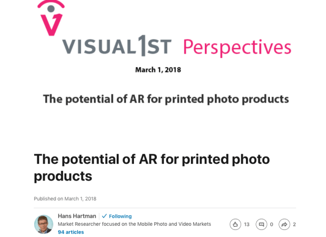 Analysis: The potential of AR for printed photo products