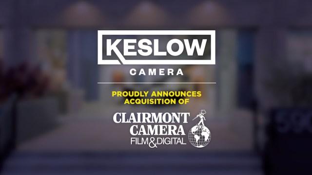 Keslow Camera announces acquisition of Clairmont Camera