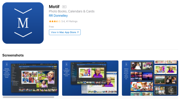 Motif updates photo book, cards and calendar printing app for MacOS Mojave