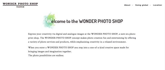 Fujifilm launches global site for Wonder Photo Shop