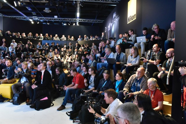 Nikon press conference at photokina