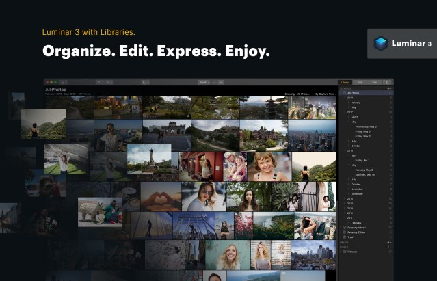 Major upgrade to Luminar includes organizing and editing an image library