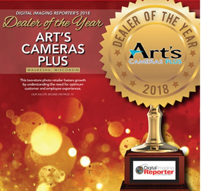 Art's Cameras Plus named Digital Imaging Reporter's 2018 Dealer of the Year