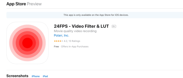 Polarr announces 24FPS video editing app for iOS