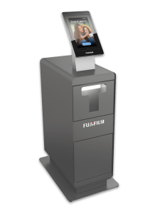 Fujifilm GetPix Quick kiosk with small cabinet