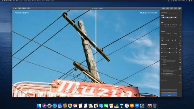 Pixelmator Pro adds image resolution enhancement using AI
