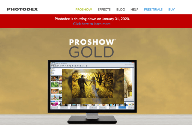 Photodex, maker of ProShow software, is shutting down