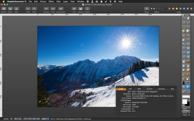 GraphicConverter 11.1.3 adds more image-editing features