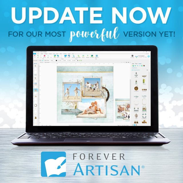 Forever updates Artisan 5 scrapbook software