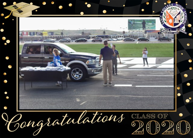 DNP captures high-school grad photos at Charlotte Motor Speedway