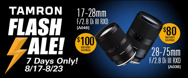 Tamron USA offering up to $100 instant savings Sony full-frame zooms