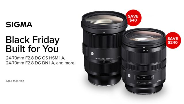 SIGMA America reveals Black Friday pricing