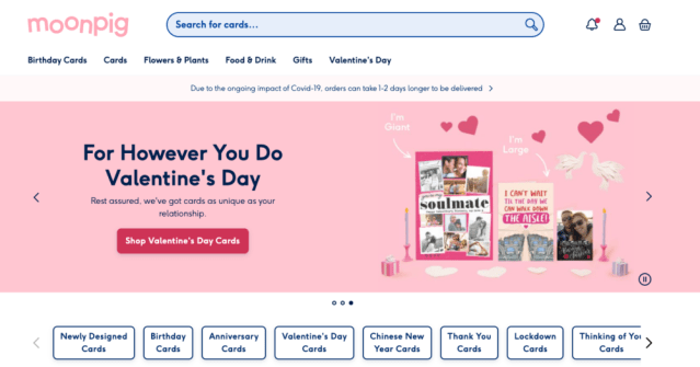 British personalized card retailer Moonpig confirms €1.3B IPO