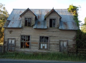 Beat up house