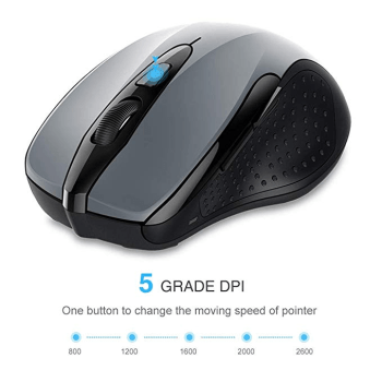 TECKNET PRO Mouse Senza Fili, 2600DPI, Durata delle batterie di 24 Mesi, 2 4G Amazon it Informatica(1)