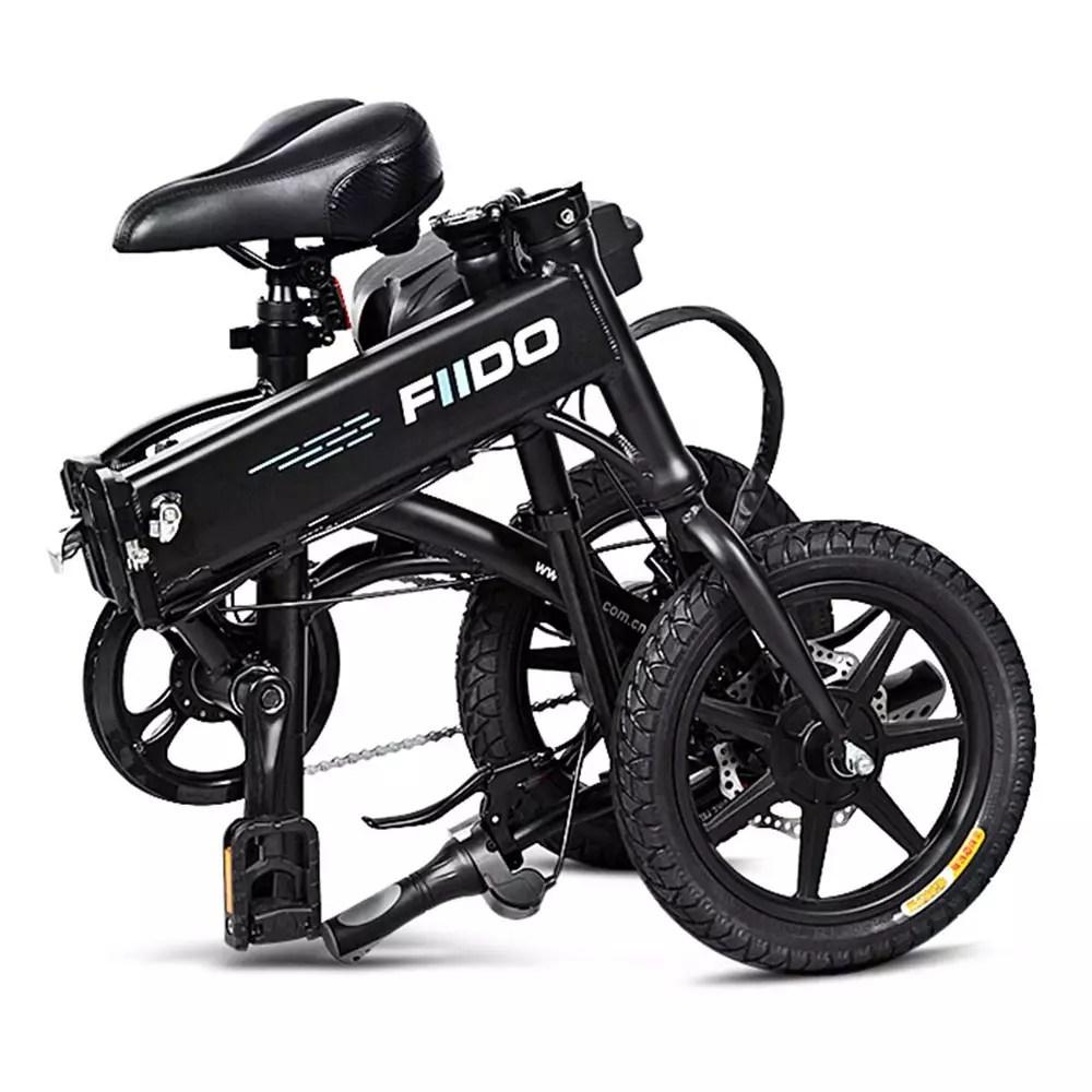 fiido d1 bici elettrica piegabile nera in offerta
